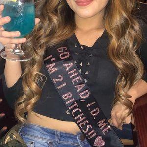 21 birthday sash